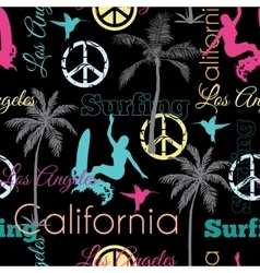 California Colorful On Black Seamless vector image vector image