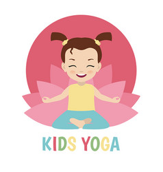 Children yoga logo children yoga logo vector