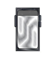 Color blurred stripe of tech voice recorder icon vector