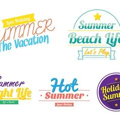 Color summer hipster vintage logo icon vector