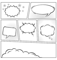 Comic speech bubbles background vector image vector image