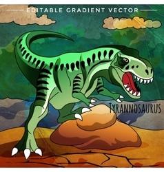 Dinosaur in the habitat Of vector image