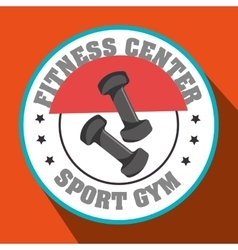 Fitness center sport gym dumbbell vector