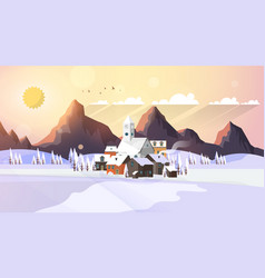 Flat style beautiful landscape vector