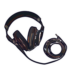 full size monitor headphones vector image