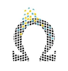 greek letter omega vector image