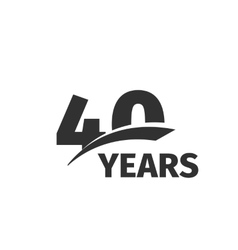 Isolated abstract black 40th anniversary logo on vector