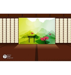 Japanese room vector image vector image