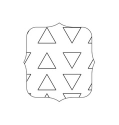 Line quadrate with graphic geometric style vector