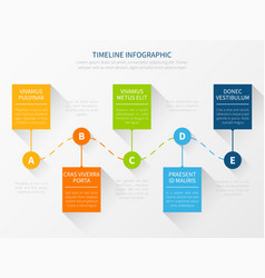 modern timeline workflow chart infographic vector image vector image
