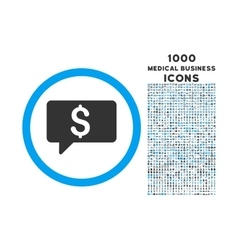 Money Message Rounded Symbol With 1000 Icons vector image vector image