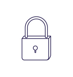 Purple line contour of padlock icon vector