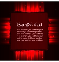 Red shiny template vector image