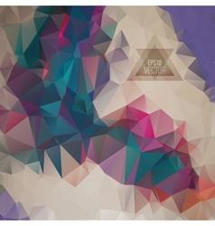 Retro pattern of geometric shapes vector