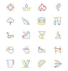 Science colored outline icon 7 vector
