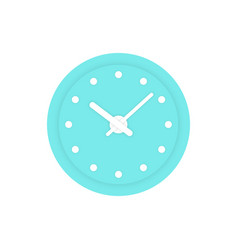 simple mint clock icon vector image