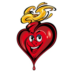smiling heart cartoon vector image