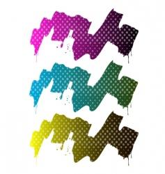 Splash paint halftone vector
