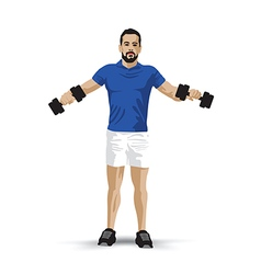 Training dumbbell vector