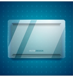 Transparent glass ad screen vector image