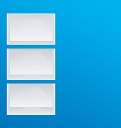 Empty blue shelves vector image