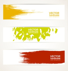 Abstract color banner set vector