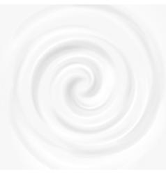 White milk yogurt cosmetics product swirl cream vector