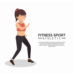 Fitness sport athletic woman working vector