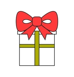 Gift box packing for surprise flat color icon vector