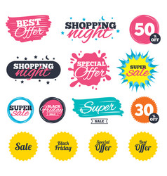 sale icons best special offer symbols vector image