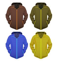 Four jackets set vector
