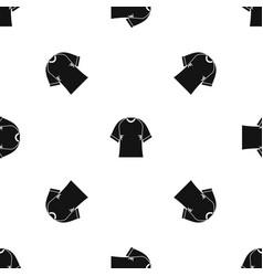 Raglan tshirt pattern seamless black vector