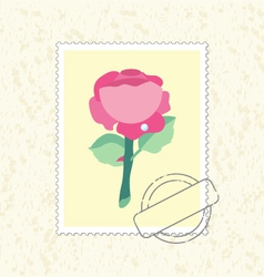 Postage stamp rose vector