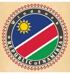 Vintage label cards of namibia flag vector