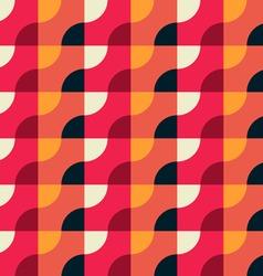 Retro Geometric Red Pattern vector image