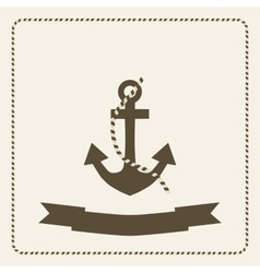 Anchor nautical theme vector