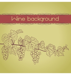 Grapevine outline vector