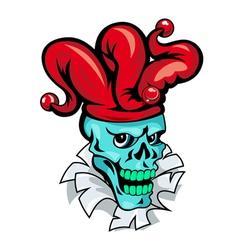 skull joker cartoon vector image