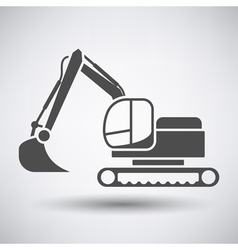 Construction bulldozer icon vector