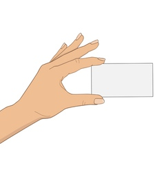 hand with business card vector image