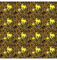Seamless pattern with chrysanthemum flower vector