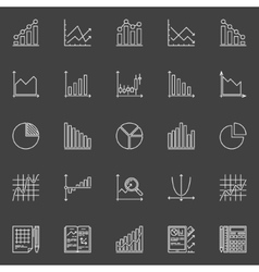 Statistics icons collection vector