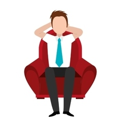Avatar man and red seat graphic vector
