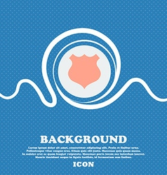 Shield icon sign blue and white abstract vector