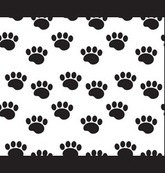 animal tracks seamless pattern dog paws traces vector image