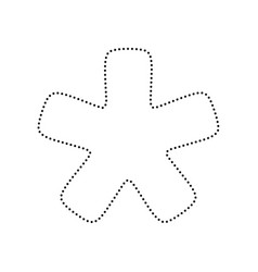 Asterisk star sign black dotted icon on vector