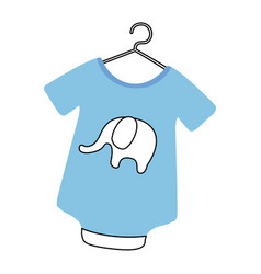 Baby outfit with elephant vector