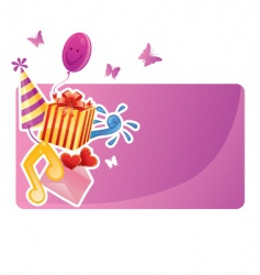 Birthday banner vector image vector image