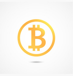 Bitcoin sign icon crypto currency symbol vector