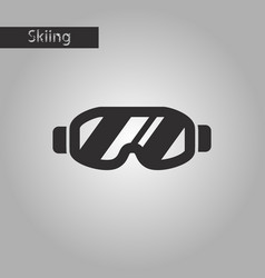 black and white style icon ski goggles vector image